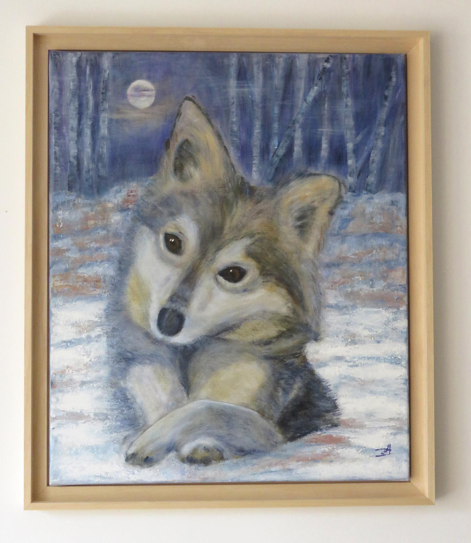 Jeune Loup de Siberie