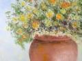 Jarre aux fleurs jaunes