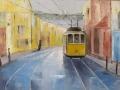 Tramway jaune Lisbonne